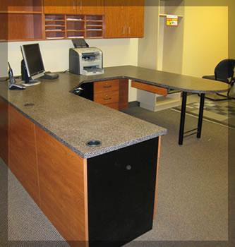 commercial office desks and office storage systems - closets plus