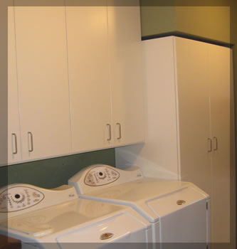 Laundry room custom closets and storage systems