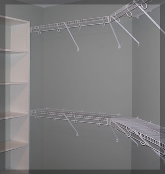 Wire Shelving For Custom Closets